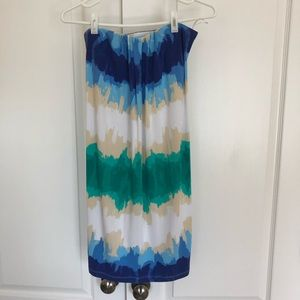 Tart strapless tie dye dress